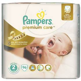 Pampers Premium Care New Baby Jumbo Pack vel. 2, 3-6kg, 96ks