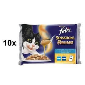 Felix Sensations Sauce Surprise s treskou v rajčatové omáčce 10 x (4 x 100g)