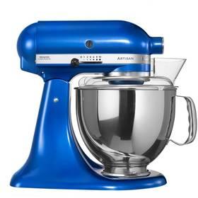KitchenAid Artisan 5KSM150PSEEB modrý Příslušenství k robotu KitchenAid KB3SS nerezová mísa (3l) (zdarma)Příslušenství k robotu KitchenAid 5KFE5T plochý šlehač se stěrkou (zdarma) + Doprava zdarma