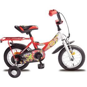 """Olpran Baby extra 12"""" bílé/červené + Reflexní sada 2 SportTeam (pásek, přívěsek, samolepky) - zelené v hodnotě 58 Kč"""