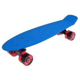 """Penny board Sulov 22"""" RETRO VENICE modrý/tr.červený"""