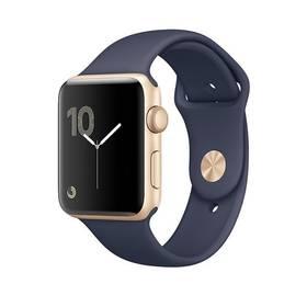 Apple Watch Series 1 42mm pouzdro ze zlatého hliníku -  půlnočně modrý sportovní řemínek (MQ122CN/A)