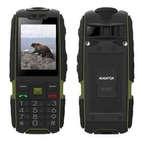 Aligator R20 eXtremo (AR20BGN) černý/zelený SIM s kreditem T-mobile 200Kč Twist Online Internet (zdarma)