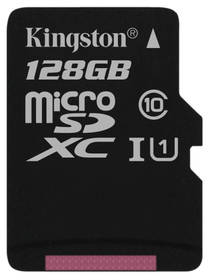 Kingston Canvas Select MicroSDXC 128GB UHS-I U1 (80R/10W) (SDCS/128GBSP)