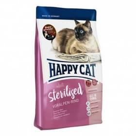 HAPPY CAT Sterilised Voralpen-Rind / Hovězí 1,4 kg