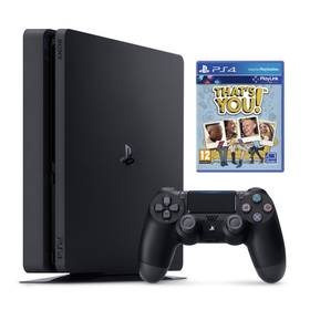 Sony PlayStation 4 SLIM 500 GB + That's You (PSN voucher) (PS719919063) černá + Doprava zdarma