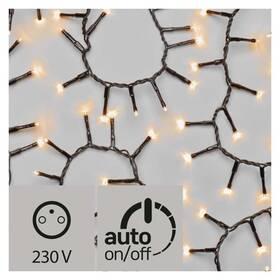 EMOS 400 LED, řetěz – ježek, 8m, jantarová, časovač (1534203700)