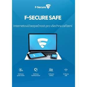 F-Secure SAFE 6 měsíců pro 3 zařízení (FCFXBR1N001XN) + Doprava zdarma