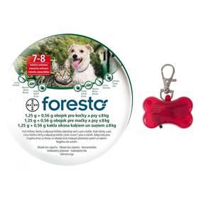Bayer Foresto 38 cm pro kočky a malé psy + svítící přívěšek Svítící přívěšek Bayer Foresto kost - červený (zdarma)