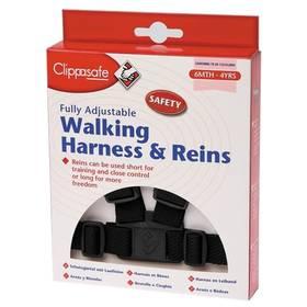 Bezpečnostní vodítko/kšíry Clippasafe pro dítě - černé