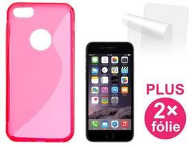 Kryt na mobil Connect IT pro iPhone 6 PLUS + 2ks ochranná fólie (CI-523) červený