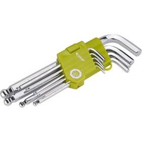 EXTOL CRAFT 66001, L-klíče, s kuličkou, 9 ks ocel