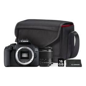 Canon EOS 2000D + 18-55 IS II + SB130 + 16GB karta (2728C013AA) čierny