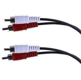 Kabel AQ 2x RCA - 2x RCA, M/M, 10 m (xaqca43100) černá barva