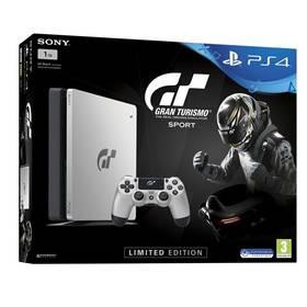 Sony PlayStation 4 SLIM 1TB + Gran Turismo Sport Speciální edice +  PS Plus 14 dní (PS719909767) čierna/strieborná