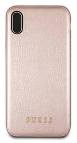 Guess Leather Hard Case Iridescent pro Apple iPhone XR (GUHCI61IGLRG) růžový