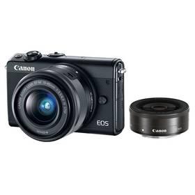 Canon EOS M100 + EF-M 15-45mm IS STM + EF-M 22mm STM černý + Doprava zdarma