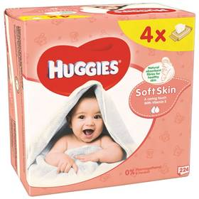 Huggies QUATRO Pack Soft Skin 4x56ks