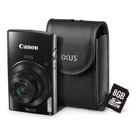 Canon IXUS 182 + orig.pouzdro + 8GB SD karta černý + okamžitá sleva 400 Kč! + Doprava zdarma