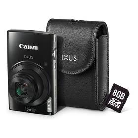Canon IXUS 182 + orig.pouzdro + 8GB SD karta černý + Doprava zdarma
