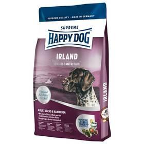 HAPPY DOG Irland Lachs&Kaninchen 12,5 kg Konzerva HAPPY DOG Rind Pur - 100% hovězí maso 400 g (zdarma) + Antiparazitní obojek za zvýhodněnou cenu + Doprava zdarma