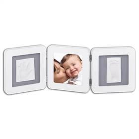Sada pre odtlačok Baby Art Rámeček Double Print Frame White & Grey biela