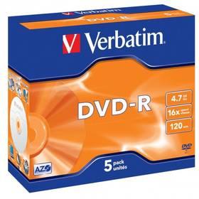 Verbatim DVD-R 4,7GB, 16x, jewel box, 5ks (43519)