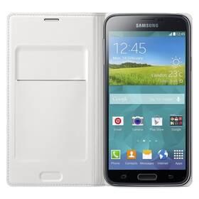 Puzdro na mobil flipové Samsung pro Galaxy S5 s kapsou (EF-WG900BW) (EF-WG900BWEGWW) biele