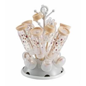 Odkapávač kojeneckých lahví Beaba - šedá/růžová