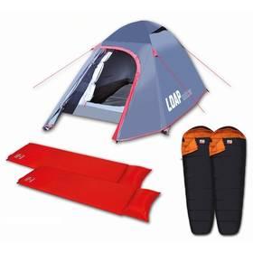 Namiot Loap dla 2 osób + 2x śpiwór + 2x samorozprężalna karimata