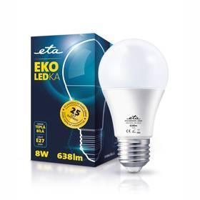 ETA EKO LEDka klasik, 8W, E27, teplá bílá (A60-PR-638-16A) bílá