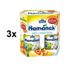 Hamánek DUOPACK s jablky 3 x (2x380g + piškoty 25g)
