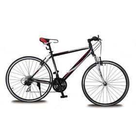 """Krosový bicykel Olpran 2016 Maverick 28"""" steel size 21"""" pánské sbezpečnostními prvky čierne/biele/červené"""