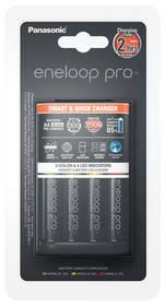 Panasonic Eneloop Smart-Quick Charger pro AA,AAA + 4x AA Panasonic Eneloop Pro 2500mAh (K-KJ55HCD40E) čierna