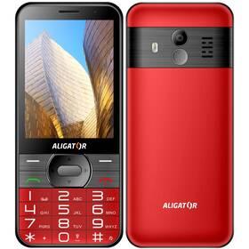 Aligator A900 Senior + nabíjecí stojánek (A900R) červený