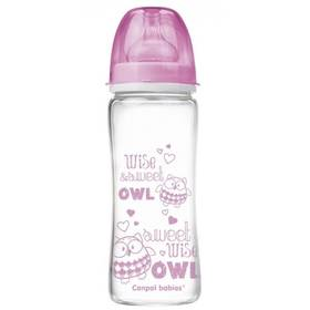 Canpol babies EasyStart PURE glass 330 ml růžová