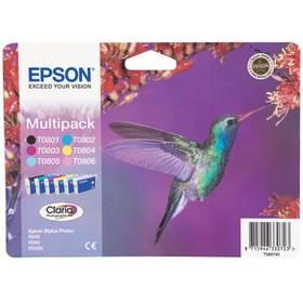 Epson T0807 - originální (C13T08074011) černá/červená/modrá/žlutá