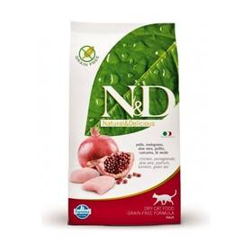 N&D Grain Free CAT Adult Chicken & Pomegranate 5 kg + Doprava zdarma