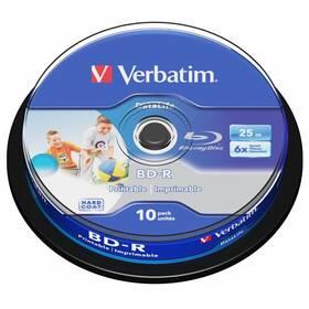 Verbatim Printable BD-R SL 25GB, 6x, 10-cake (43804)