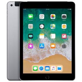 Apple iPad (2018) Wi-Fi + Cellular 128 GB - Space Gray (MR722FD/A) SIM s kreditem T-Mobile 200Kč Twist Online Internet (zdarma) + Doprava zdarma