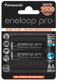 Panasonic Eneloop Pro AA, 2500mAh, 2 ks (BK-3HCDE/2BE) černá + Doprava zdarma
