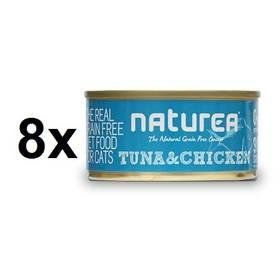 Konzerva Naturea GF Cat - Tuna, Chicken 8 x 80g