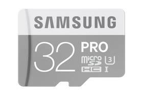 Samsung Micro SDHC PRO 32GB UHS-I U3 (90R/80W) + adapter (MB-MG32EA/EU)
