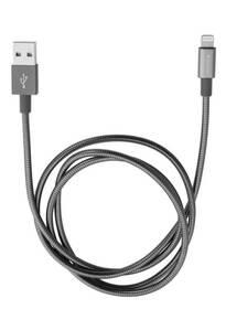 Verbatim Sync & Charge USB/Lightning, 1m, MFi, nerezová ocel (48860) sivý
