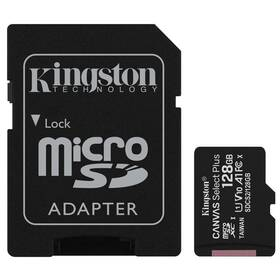 Kingston Canvas Select Plus MicroSDXC 128GB UHS-I U1 (100R/10W) + adapter (SDCS2/128GB)