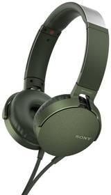 Sluchátka Sony MDR-XB550AP Extra Bass™ (MDRXB550APG.CE7) zelená