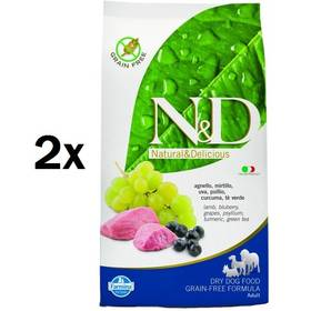 N&D Grain Free DOG Adult Lamb & Blueberry 2 x 12 kg + Doprava zdarma