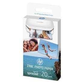 HP Zink Sticky-Backet Photo Paper A6, 20 listů (W4Z13A) biely