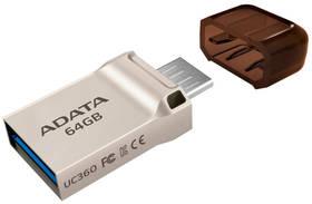 ADATA UC360 64GB OTG MicroUSB/USB 3.1 (AUC360-64G-RGD) zlatý