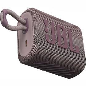 JBL GO3 růžový